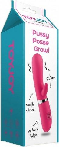 Pussy posse growl vibrator pink, фото 2