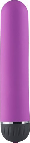 Gyrating silicone vibe purple