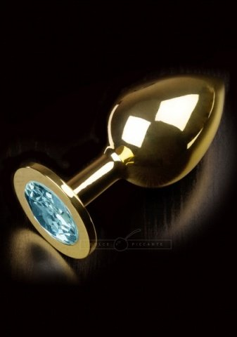 Jewellery large gold water blue