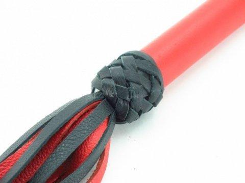 Плеть черно-красная с красной ручкой Турецкие головы, фото 2