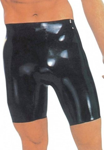 Latex bermuda short small