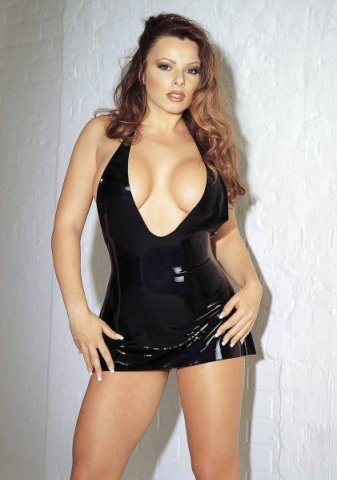 Erotic mini dress black large