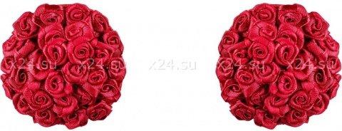Красные пестисы с розочками Lucky Nipple Covers