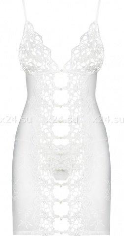 Белая эротичная сорочка со стрингами Bride Chemise, фото 2
