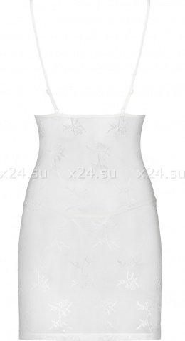 Белая эротичная сорочка со стрингами Bride Chemise, фото 3