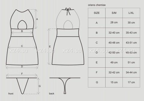 Чёрное мини-платье с вырезом на груди Oriens Chemise, фото 5
