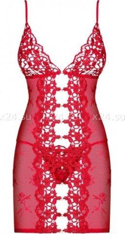 Красная эротичная сорочка со стрингами Bride Chemise, фото 3