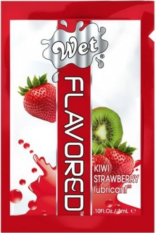 Лубрикант Wet Flavored Kiwi Strawberry 3mL