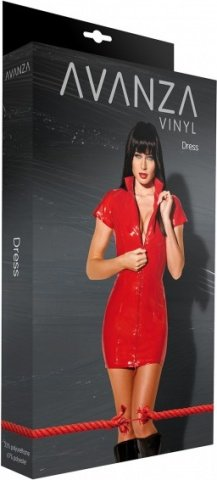 Dress lack with zipper red, фото 2