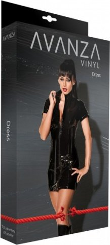 Dress lack with zipper black l, фото 2