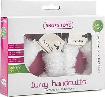 Наручники Furry Handcuffs White SH-SHT255WHT 26 см, фото 2