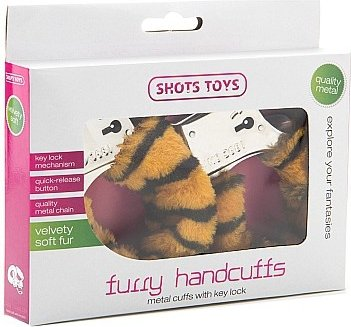 Наручники Furry Handcuffs Tiger SH-SHT255TIG 26 см, фото 2