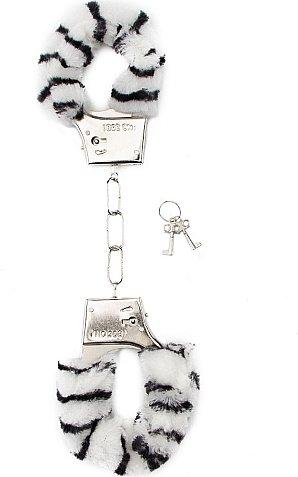 ��������� Furry Handcuffs Zebr SH-SHT255ZEB 28 ��