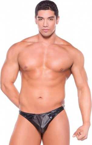 Wetlook thong black os