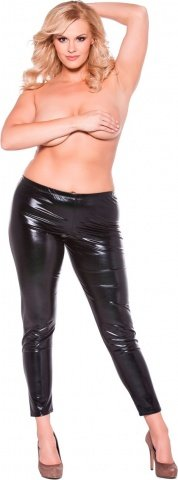Wetlook leggings black xl/xxl