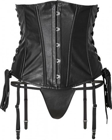 Short corset + string xl black