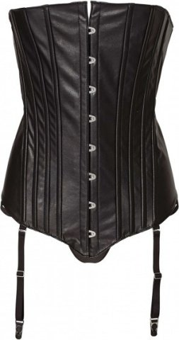 Corset with front lace m black