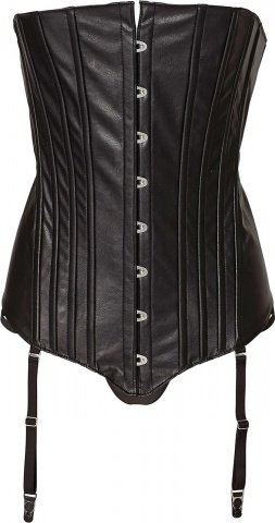 Corset with front lace xl black