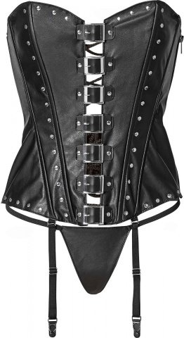 Corset with buckles l black