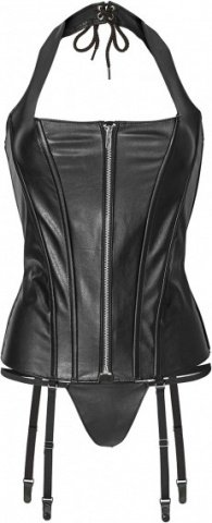 Corset with zipper s black