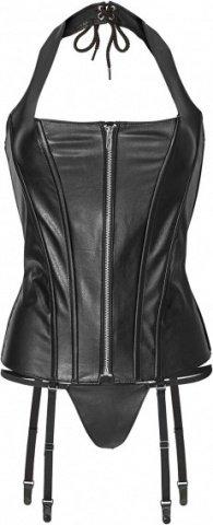 Corset with zipper s black