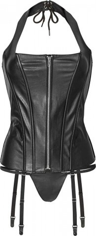 Corset with zipper l black