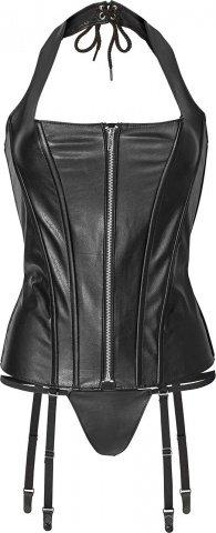 Corset with zipper l black