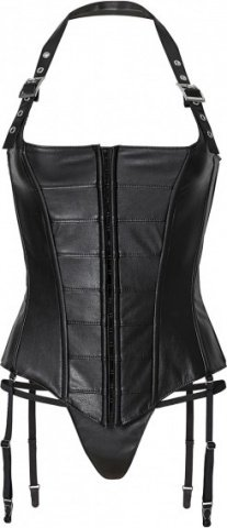 Corset w buckles + string m black