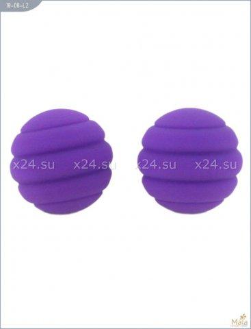Два шарика Twistty, металлические с силиконовым покрытием, фиолетовые, 28 мм