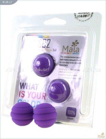 Два шарика Twistty, металлические с силиконовым покрытием, фиолетовые, 28 мм, фото 2