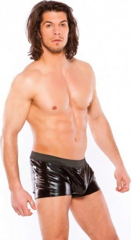 Wetlook slashed shorts black s/l