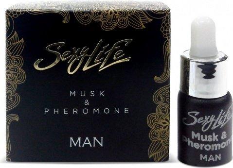 Духи Sexy Lifeмужские Musk&Pheromone, 5 мл