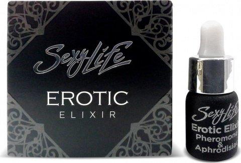 Эфирное масло-афродизиак с феромоном Sexy Life Erotic Elixir, 5 мл унисекс