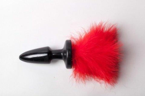 Анальная пробка с хвостом Red Bunny 47002