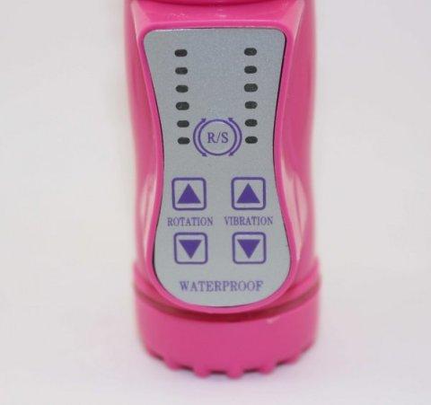Виброкомпьютер розовый144 варианта вибрации и ротации 47054, фото 2