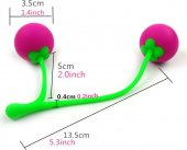 Вагинальные шарики Сладкая вишня 47075, общая длина изделия 17,3см, диаметр 3,3см., общая длина изделия 17,3см, диаметр 3,3см. - Секс-шоп Мир Оргазма