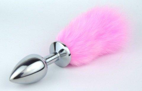 Пробка металлическая с розовым хвостиком размер S 47160