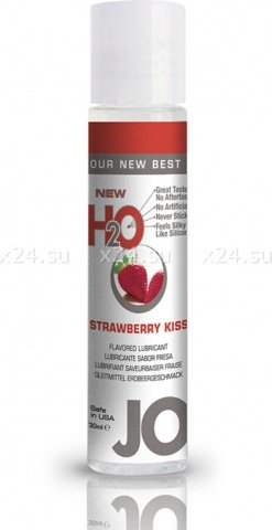 Ароматизированный любрикант на водной основе Strawberry Kiss (клубника) 30 мл
