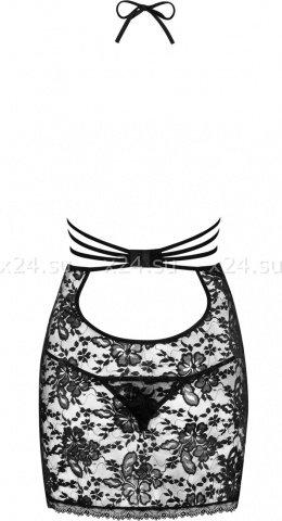 Черная гипюровая сорочка Catia Chemise, фото 6