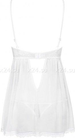 Белая прозрачная сорочка на косточках Favoritta Babydoll, фото 6
