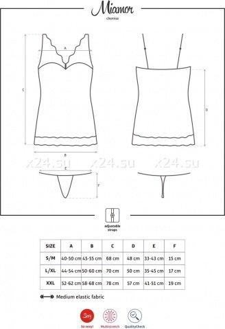 Черное мини-платье с камушками на груди Miamor Chemise, фото 7