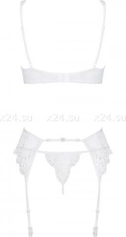 Белый кружевной комплект (лиф, пояс, стринги) Etheria Set, фото 6