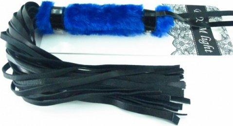 нежная плеть с синим мехом bdsm light