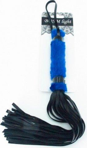 нежная плеть с синим мехом bdsm light, фото 2
