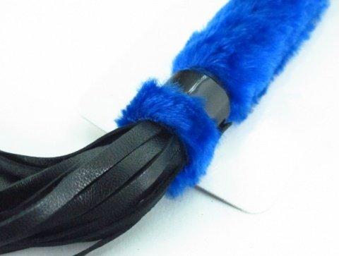 нежная плеть с синим мехом bdsm light, фото 3