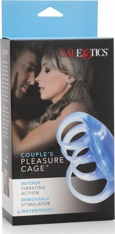 Стимулирующая насадка с внутренней вибрацией Pleasure Cage, фото 2