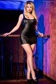 Черное блестящее мини платье на завязках сзади | Мини платья | Интернет секс шоп Мир Оргазма