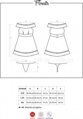 Мини-сорочка с открытыми плечами Floresita LXL, фото 7