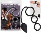 Эрекционное кольцо с подхватом мошонки и анальной пробкой / | Эрекционные кольца без вибрации | Секс-шоп Мир Оргазма