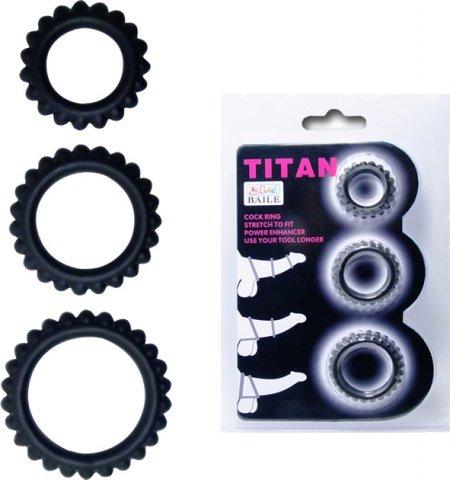 Набор из 3 х ребристых эреционных колец titan